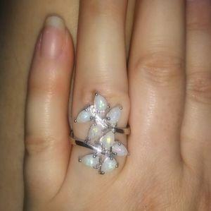 Jewelry - NIP! Gorgeous White Fire Opal Wrap Around Ring